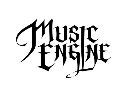 MusicEngine logo文字のみブラック